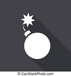 Bomb icon with a long shadow