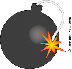 bomb - Vector illustration of bomb