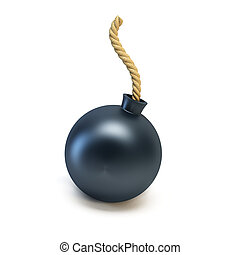 bomb isolated 3d rendering