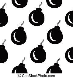 Bomb seamless pattern background