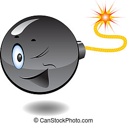 Bomb - series of cartoon bombs. Isolated on white. EPS 8, AI