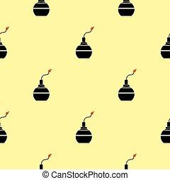 Bomb Silhouettes Seamless Pattern