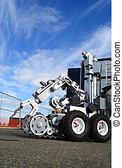 Bomb Squad Robot - Bomb disposal robot complete with camera,...