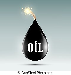 bomb with a wick in the form of oil droplets