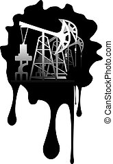 bomba, óleo, grunge