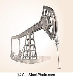 bomba, óleo, ilustração