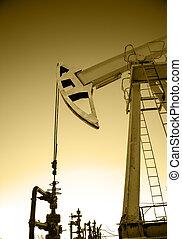 bomba, óleo,  oilfield, macaco,  wellhead