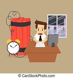 bomba, affari, lavorativo, entro, termine decadenza, uomo