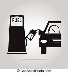 bomba combustible, símbolo