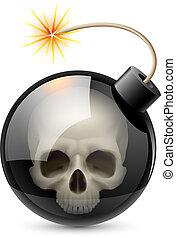 bomba, cráneo