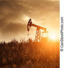bomba de aceite, silhoutte