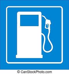 bomba, gasolina, nozzle.