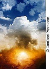 bomba nuclear, explosión