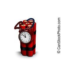 bomba, vertical, tiempo