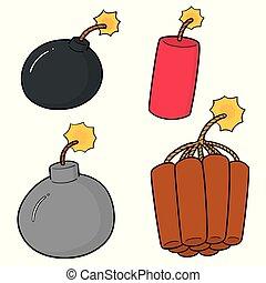 bomba, vettore, set