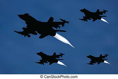 bombardeiro, aviões