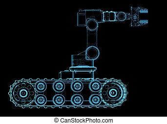 bombarderen brigade, robot