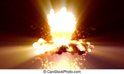 bombe, explosion, atomique