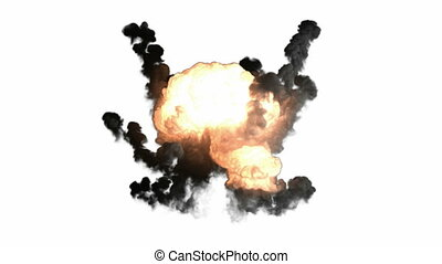 bombe, explosion, canal, alpha