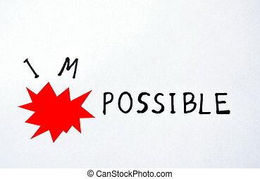 bombe, fond, possible, papier, exploser, mots, impossible, blanc rouge