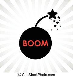 bombe, hochkonjunktur, ikone