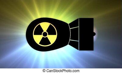 bombe, nucléaire, bomb., poison, brouillard, atomique