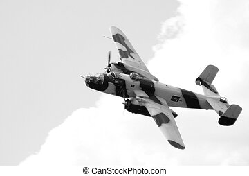 Bomber - A big world war 2 bomber does acrobatics at the...