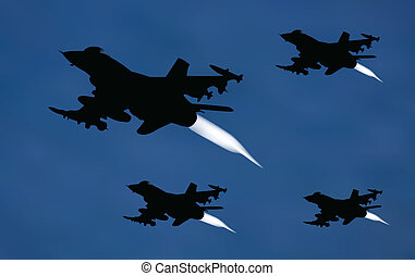 bomber airplanes - illustration of bomber airplanes in...