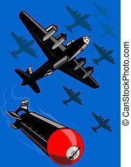 Illustration on aerial warfare