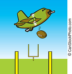 Bomber Dropping Football - Bomber dropping a football...