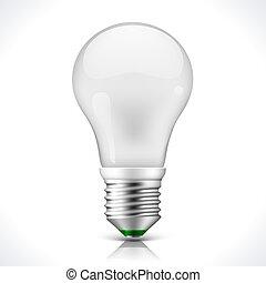 bombilla, energía, ahorro, lámpara