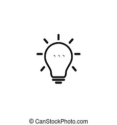 bombilla, lámpara, diseño, plantilla, logotipo