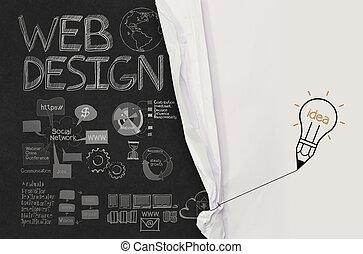 bombilla, lápiz, empate, iconos de concepto, exposición,...