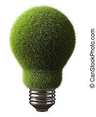 bombilla, verde
