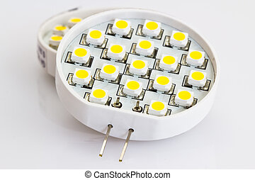 bombillas, leds, g4, fue adelante, 18, luz