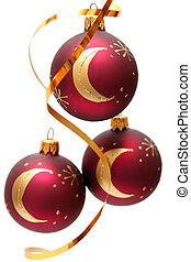 bombillas, navidad, rojo