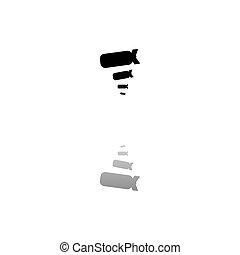 Bombing icon flat