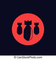 bombs, bombardment vector icon, eps 10 file, easy to edit
