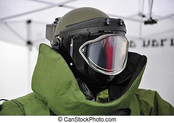 bomd squad helmet - Helmet of  bomb squad suit