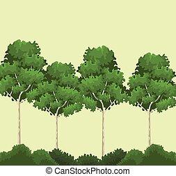 bomen, en, struiken