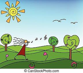 bomen., natuur, lente