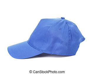 boné, azul, basebol