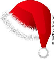 boné, chapéu, são, vermelho, natal