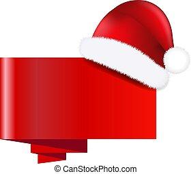 boné, claus, bandeira, natal, santa