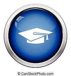 boné, graduação, ícone