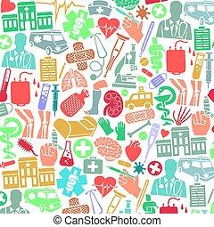 boné, máscara, human, adesivo, costa, adn, coração, ícones, padrão, tigela, enfermeira, equipamento, (snake, símbolo, quebrada, faixa, sangue, fundo, perna, médico, doação, ajuda, primeiro, estetoscópio, saco, crutch)