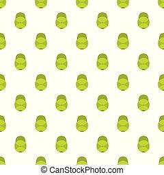 boné verde, basebol, seamless, padrão
