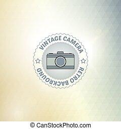 bon appareil-photo, retro, fond