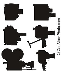 bon appareil-photo, vidéo, retro, film