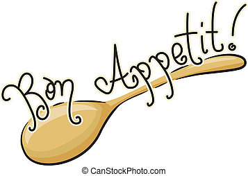 Bon Appetit - Icon Illustration of a Spoon